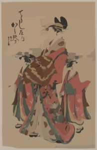 The Lady Karagoto Of Chōji-ya. Clip Art