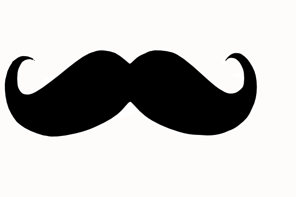 mustache curly clip art at clker com vector clip art online rh clker com Different Mustache Clip Art Horse Clip Art
