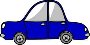 Blue Car Very Small Clip Art