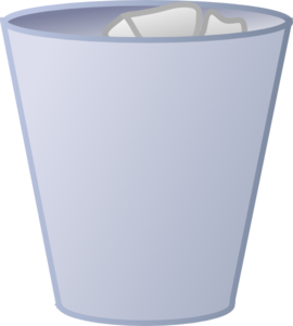 Cleaned Garbage Can Clip Art