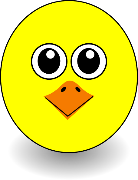 Funny Chick Face Cartoon Clip Art at Clker.com - vector ...