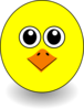 Funny Chick Face Cartoon Clip Art
