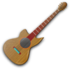 Wooden Guitar Clip Art
