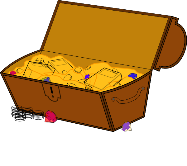 Treasure Chest Clip Art at Clker.com - vector clip art online, royalty ...