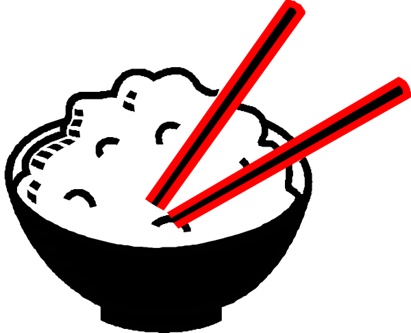 Rice Bowl Black And Red Centered Clip Art At Clker Com