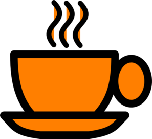 Orange Coffee Mug Clip Art