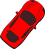 Red Car - Top View - 50 Clip Art
