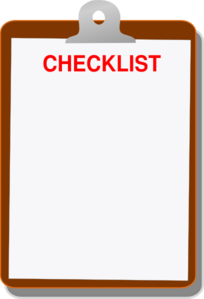 Clipboard Checklist Clip Art at Clker.com - vector clip ...