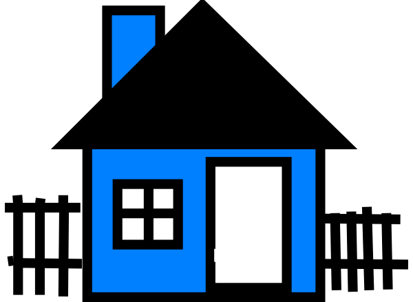 clip art blue house - photo #7