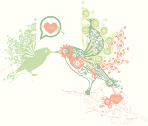 Love Bird Fade Clip Art