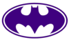 Purple Batman Logo Clip Art