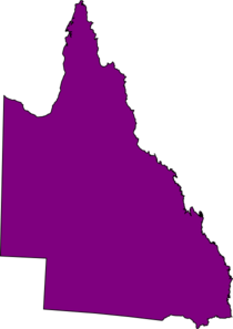 Qld Map  Sectional Purple Clip Art