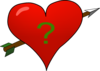 Valentine Heart Arrow With Questionmark Clip Art