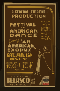 A Federal Theatre Production Festival Of American Dance Featuring  An American Exodus  Clip Art