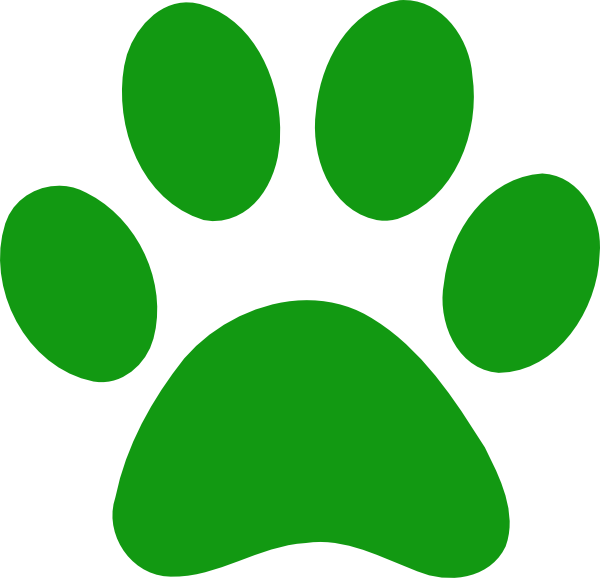 Pics Photos - Green Paw Prints Picture