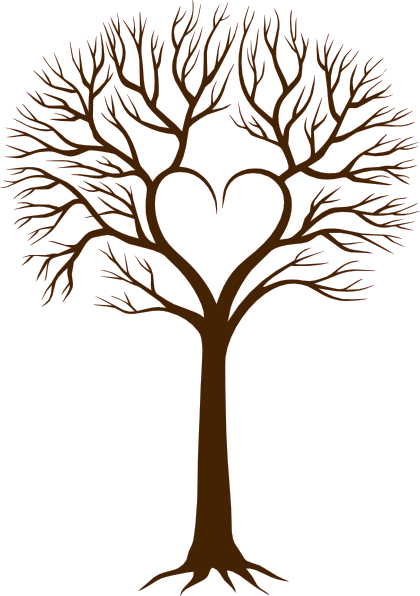 Oak Tree With Roots Sketch Image Clip Art at Clke...