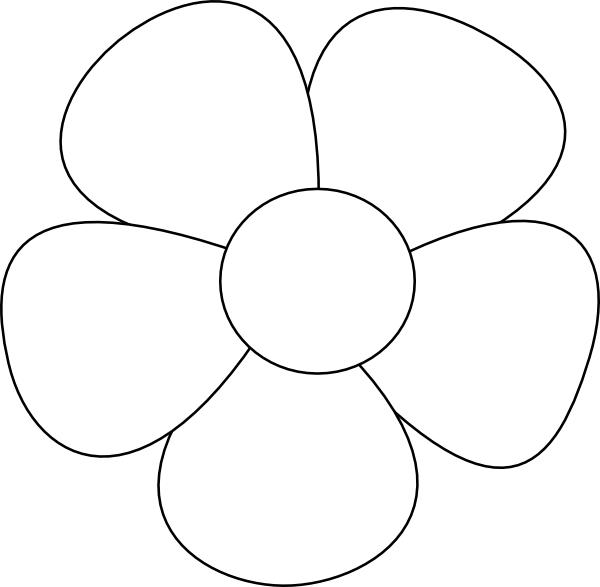 Basic Flower Line Drawing : Simple flower clip art at clker vector