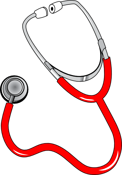 Red Stethoscope Clip Art at Clker.com - vector clip art ...
