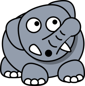 Elephant Drop Clip Art