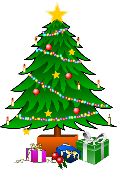 Christmas Toys Cartoon : Christmastree with gifts clip art at clker vector