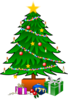 Christmastree With Gifts Clip Art