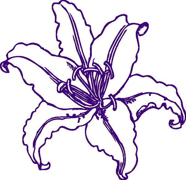 Purple Lilly Clip Art at Clker.com - vector clip art online, royalty ...: www.clker.com/clipart-purple-lilly.html