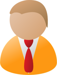 Teamstijl Person Icon Orange Clip Art