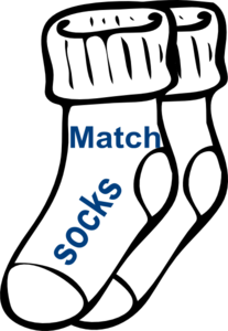 Chore: Match Socks Clip Art