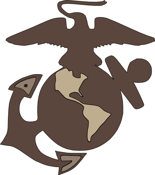 Marine logo drawing
