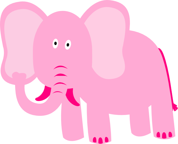 Pink Elephant Clip Art at Clker.com - vector clip art ...