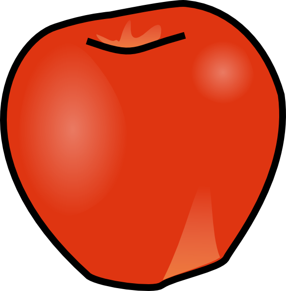 Apple No Stem Clip Art at Clker.com - vector clip art ...