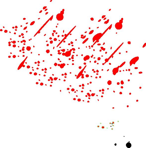 Red Splatter Transparent