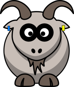 Goat With Uk Eid Tags Clip Art