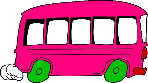 pink bus clip art at clker com vector clip art online royalty rh clker com