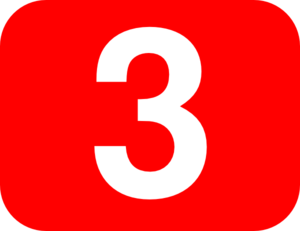 Number 3 Red Background Clip Art