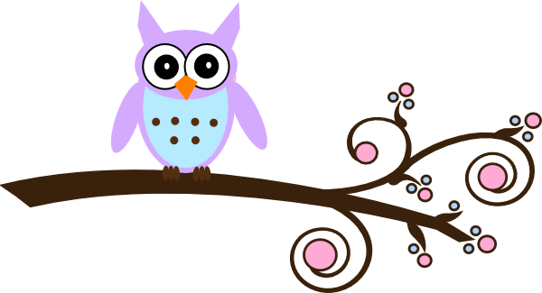 lilac owl on branch clip art at clker com vector clip art online rh clker com owl family on branch clip art owl on tree branch clip art