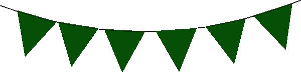 Green Bunting Clip Art at Clker.com - vector clip art ...