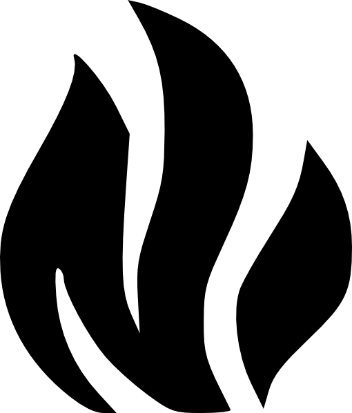 Black Solid Flame Clip Art at Clker.com - vector clip art ...