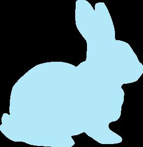 Blue Rabbit Clip Art at Clker.com - vector clip art online, royalty ...