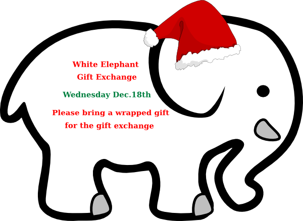 white elephant with red bow clip art at clker com vector clip art rh clker com  white elephant christmas clipart