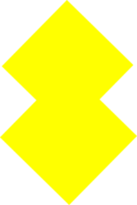 2 Squares Yellow Clip Art