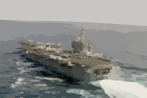 The Nuclear-powered Aircraft Carrier Uss Nimitz (cvn 68) Sails Through The Indian Ocean. Clip Art