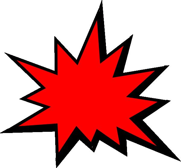 Red Comic Pow Clip Art at Clker.com - vector clip art online, royalty ...