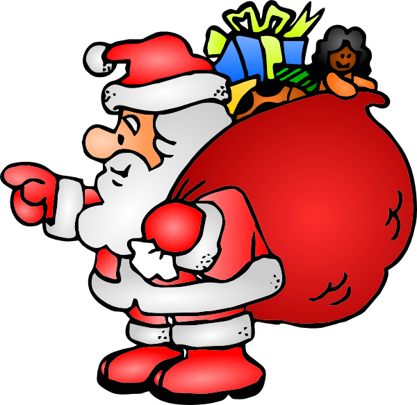 Santa claus with his bag clip art at clker vector