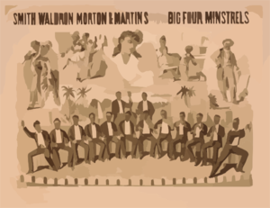 Smith, Waldron, Morton & Martin S Original Big Four Minstrels Clip Art