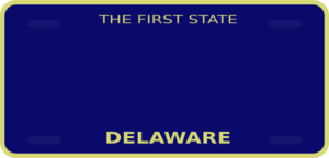 Delaware License Plate Clip Art
