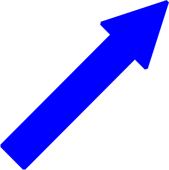 Blue Arrow Right Down Clip Art at Clker.com  vector clip art online