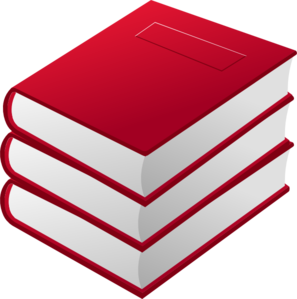 Red Books Pile Clip Art