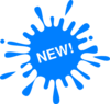 New Blue Splash Ink Clip Art
