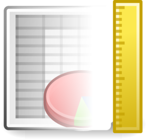 X Office Spreadsheet Template Clip Art